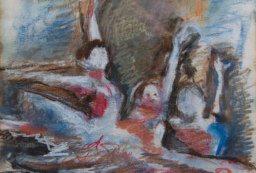 oil pastel of dancers
