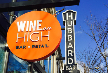 Wine on High sign