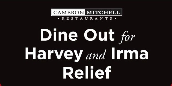 Dine Out For Hurricane Relief At Cameron Mitchell