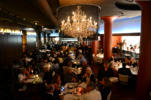 The dining room at Martini Modern Italian, a Cameron Mitchell Restaurant in Columbus Ohio's Short North Arts District.