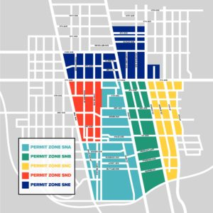 short north columbus ohio map Permit Zone Map Short North Columbus Ohio